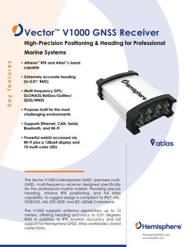 VECTOR™ V1000 GNSS RECEIVER