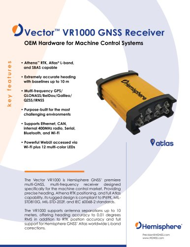 Vector™ VR1000 GNSS Receiver