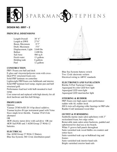 S&S 30 STANDARD SPECIFICATIONS