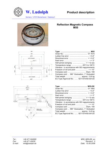 Magnetic Reflection Compass M55