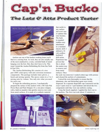 Anchor Refinishing Kit for rusty anchors