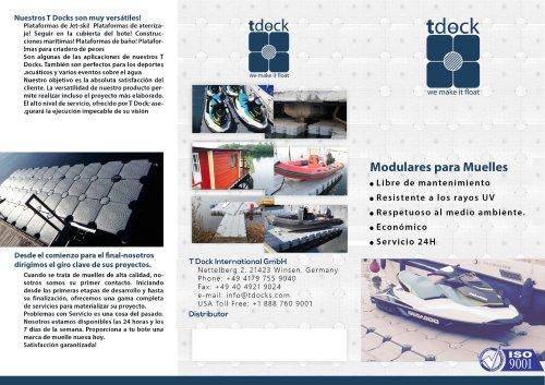 T Dock Brochure Spanish