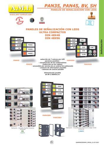 PAN35, PAN45, BV, SH PANELES DE SENALIZACION CON LEDS
