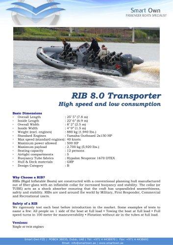 RIB 8.0 Transporter
