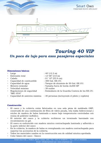 Touring 40 VIP - Español