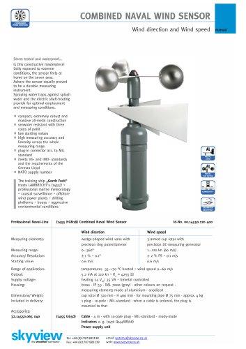 LB-1455 Combined Naval Wind Sensor