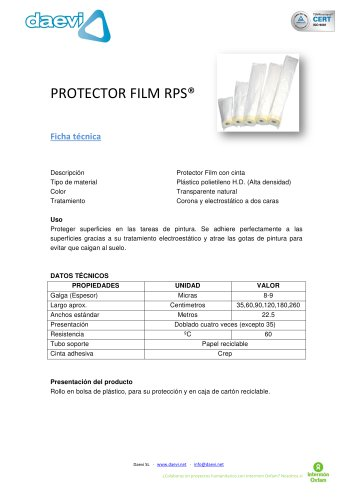 Plástico con cinta de enmascarar RPS®