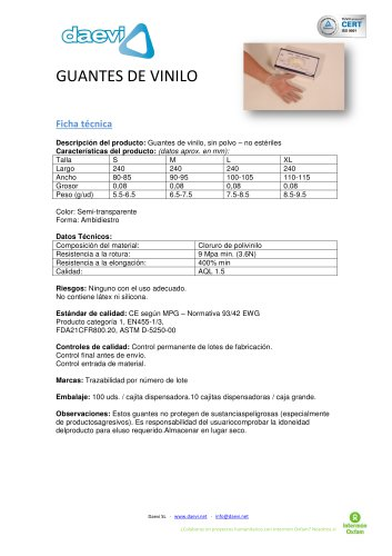 Vinyl Gloves powder free