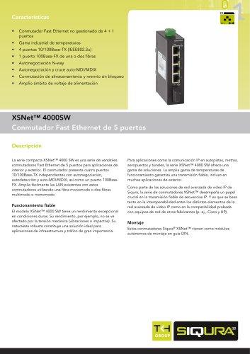 XSNet 4010 SW - 4-port + 1-port switch