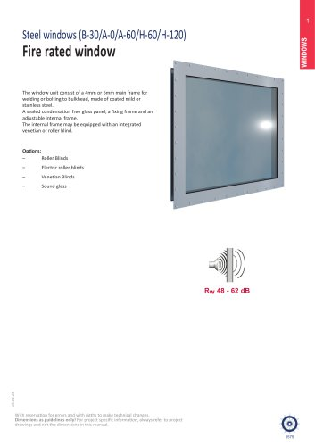 Fire rated windows