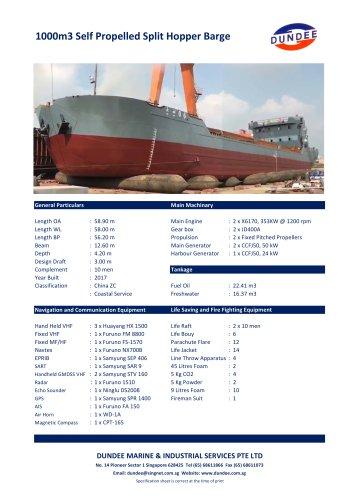 1000m3 Split Barge