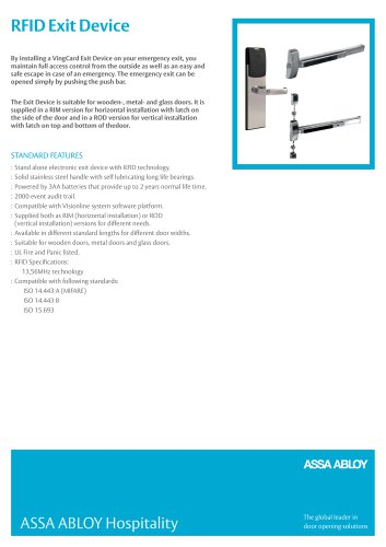 RFID Exit Device