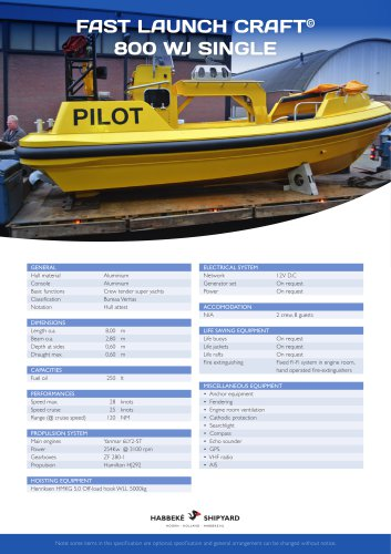 Fast Launch Craft 800 WJ Single