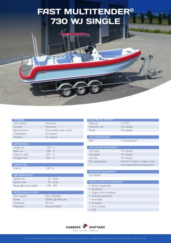 Fast Multitender 730 WJ Single