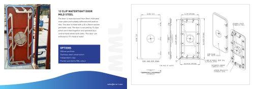 12 Clip Watertight Door 7m