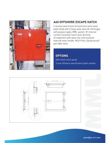 A60 Offshore Escape Hatch
